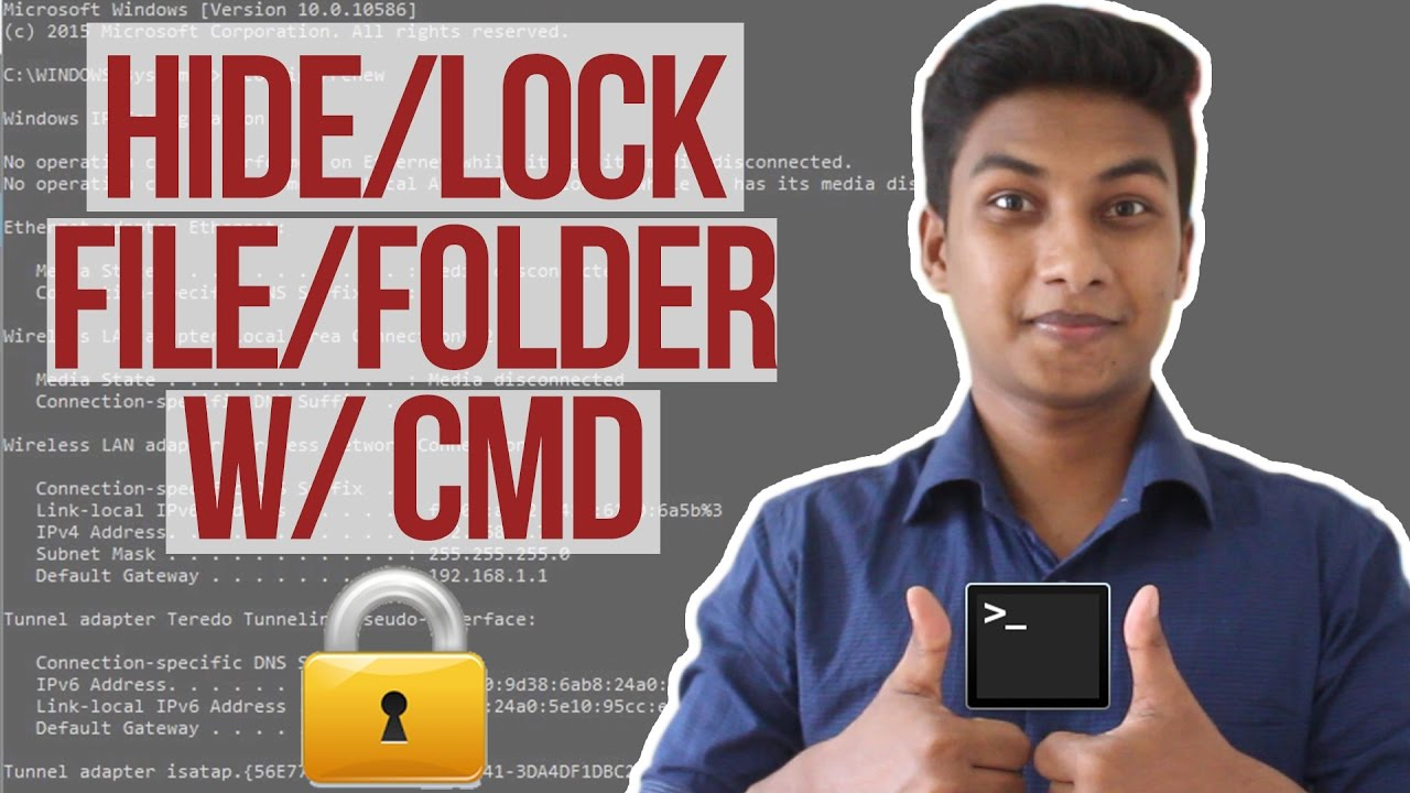Hide Personal Files/Folder Securely with Command Prompt (Cmd)